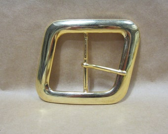 Solid Brass belt buckle made in Spain from the 80's