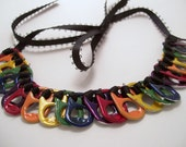 Rainbow Pop Tab Necklace