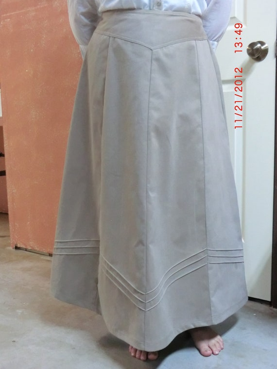 Modest Kahki Twill Skirt, Long Skirt, Teen Girls Skirt