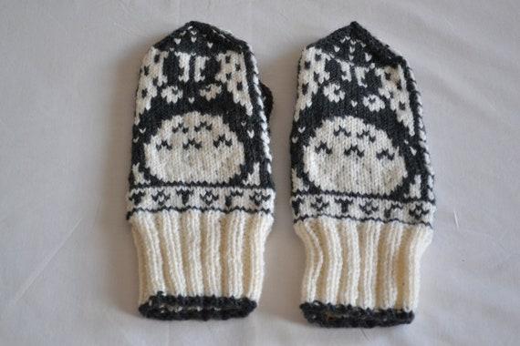 Totoro Mittens - 100% Hand Knit