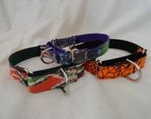 Custom standard martingale collar. you choose fabric and nylon color.
