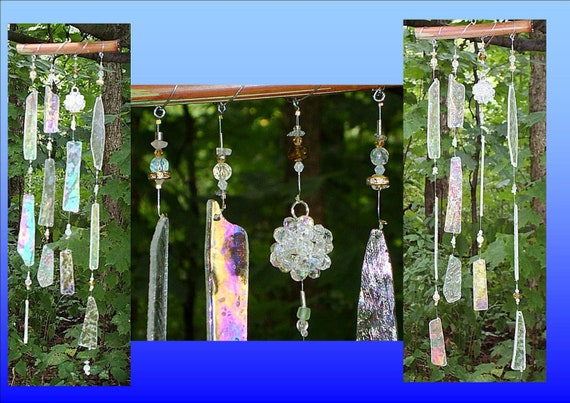 Irridescent Dodecahedron Crystal Ball Sacred Geometry Harmonizing Feng Shui Wind Chime
