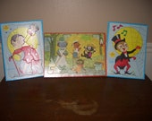 Vintage Sta-N-Place FURRY Children puzzles