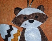 Personalized Raccoon Christmas Ornament