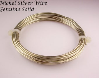 Nickel Silver Solid Wire 18Ga 2 Oz . 28Ft. Coil ( Made In USA )