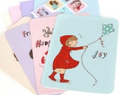 Little Wishes - postcards, envelopes and stickers set