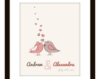 Love Birds Wedding Present