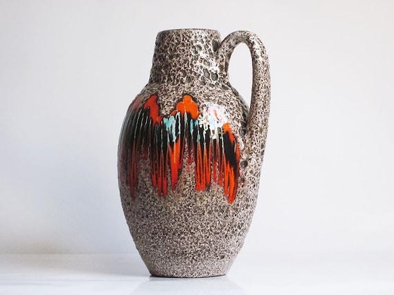 """West German """"Lora"""" decor vase by Scheurich (279/38)"""