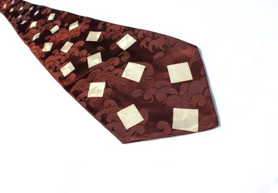 White Chocolate Chip 1940s Necktie, Vintage Swing Tie