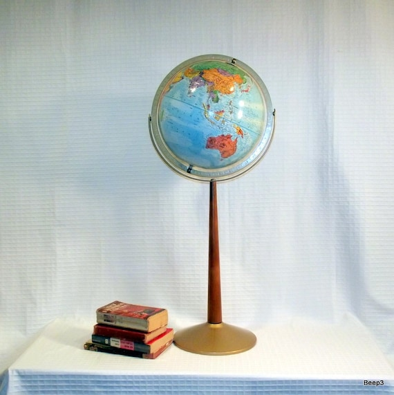 RESERVED FOR ERIN Vintage Mid Century Floor Globe