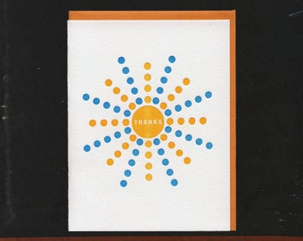 Thanks Dots Letterpress card