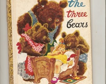Vintage Little Golden Book The Three Bears Cy. 1948 Simon & Schuster 1st Edition. Rojankowsky