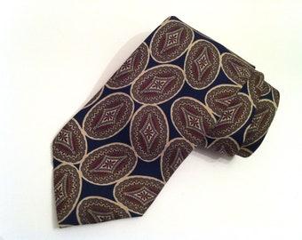 Dior Tie, Christian Dior Necktie, Navy Blue Vintage Tie, Silk Tie, Men's Necktie, Designer Necktie