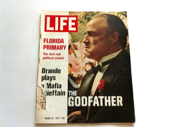 Life The Godfather March 10, 1972 - Vintage Magazine