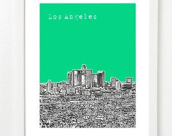 Los Angeles City Art - Skyline Poster - California State Series - LA - VERSION 2