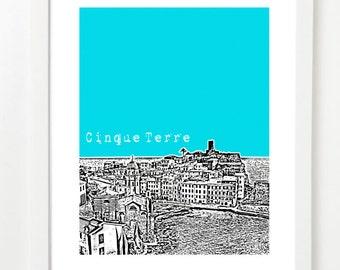 Cinque Terre Skyline Poster - Cinque Terre Italy City Skyline Series Art Print  - Cinque Terre Honeymoon