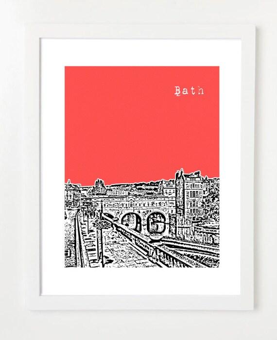 Bath, England Poster - City Skyline Series Art Print - England Love - VERSION 1