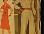 Misses' Jumpsuit and Dress Size 16 Vintage 1970s Sewing Pattern-Simplicity 7837