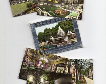 Baden-Baden, Germany, Vintage Souvenir Set, 15 Photos