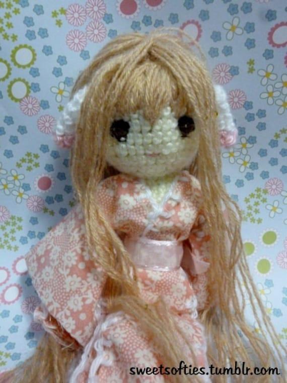 Amigurumi Anime Doll Pattern : Chobits Chii Chi Doll Japanese Anime Amigurumi / Crochet
