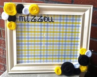Mizzou Framed Dry Erase Board