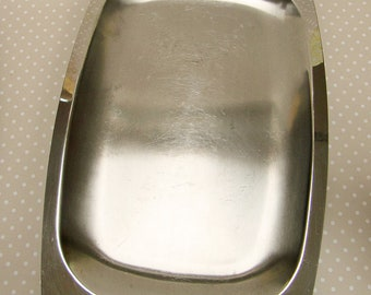 Vintage Retro Large 10/18 Stainless Steel Serving Sandwich Tray by King Arthur Made in England