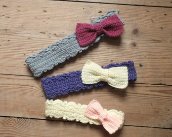 Bow Peep Headbands - Instant Download PDF Crochet Pattern