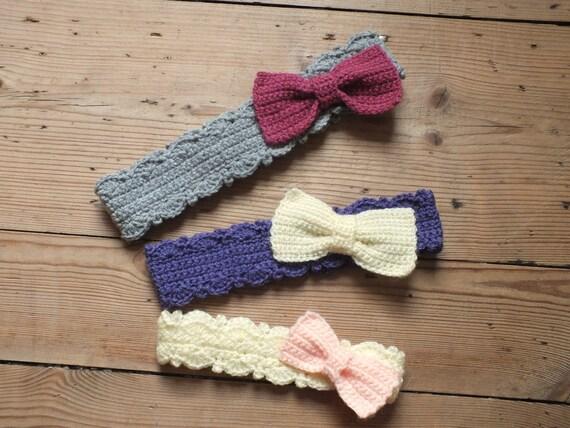 Bow Headbands - Instant Download PDF Crochet Pattern