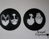 KISS Minimalist Vinyl Record Paintings