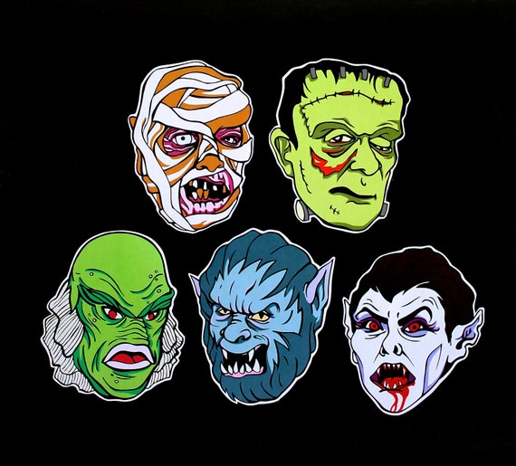 MONSTER SQUAD - Pack of 5 Stickers