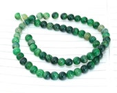 Round Dragon Green Agate Gemstone Beads---- 6mm ----about 64Pieces---14.5 inch One Strand