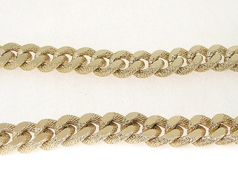 Shiny Cut Dot Light Gold Plated Metalic Aluminium Chunky Curb Chain ----- 13mmx 15mm---thickness about 3.5mm----38""