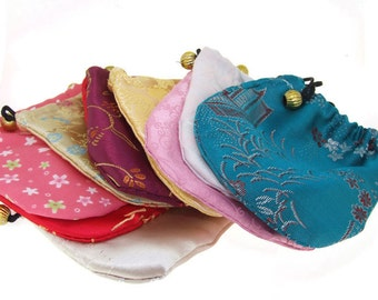 50PCS Charm Multicolor SIik Jewelry Bags, Gift Bags, Drawstring Bag/Pouch ,Necklace Bags,Bacelet bags,Holiday package