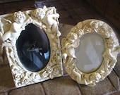 Pair of Vintage Angel Cherub Picture Frames