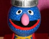 Super Grover Sesame Street Muppets Wine Bottle Stopper or Ornament handmade