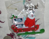 Sale ! Awesome 1987 Bud Light Spuds Spud Mackenzie Christmas Ornament NOS