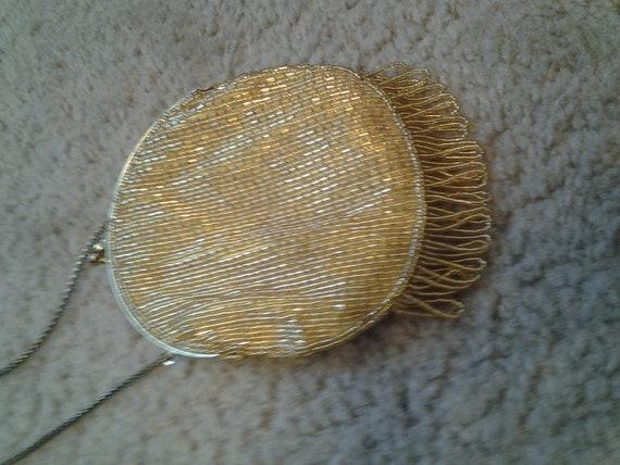 Gold Kisslock Flapper Bag