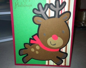 Reindeer Happy Holidays Card