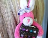 kawaii lolita fairy kei decora bunny biscuit cookie rabbit pink hair clip