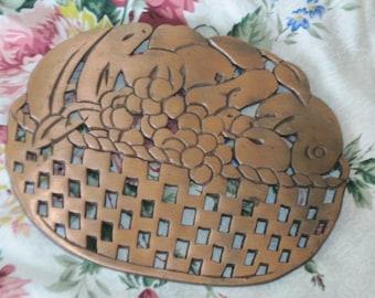 Trivet, Copper Hot Trivet for Table, Table Trivet, Vintage Kitchen Decor, Vintage Home Decor, Table Decor, Copper, Country Decor, Farm Decor