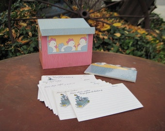 Rooster Barn Recipe Card Holder  :)S