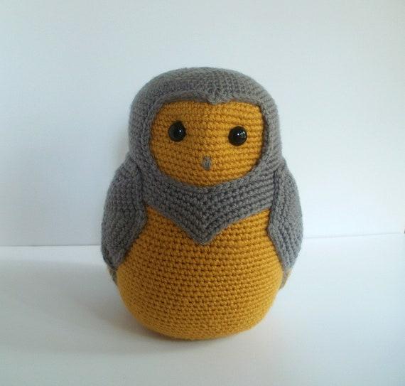 Cadewyn the Large Crochet Barn Owl