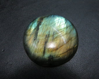 Labradorite Cabochon Full Flashy Fire Good Quality Round Shape Size 33X33 mm Approx
