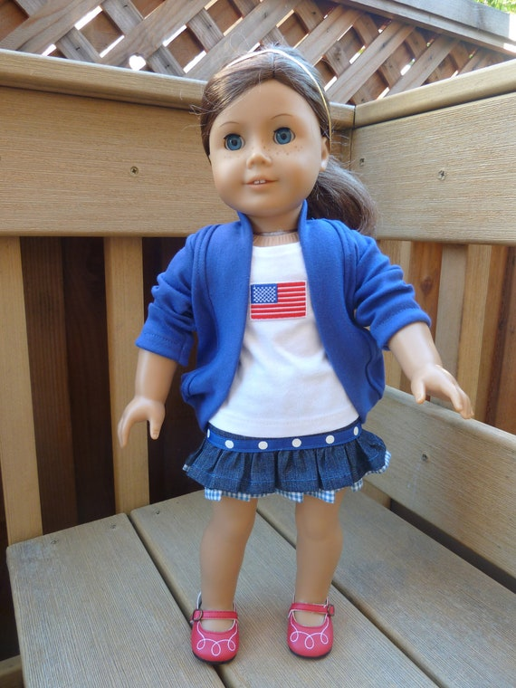 American Girl Doll Clothes - Flag Flying High 3 piece outfit