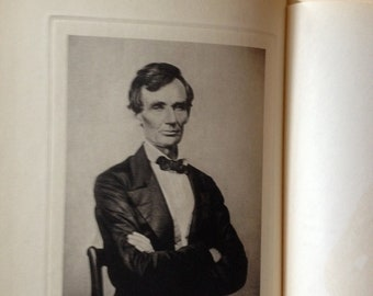 1928 Books Abraham Lincoln 1809 through 1858 Volume l and ll by A. Beveridge Blue Bindings  President Biographical