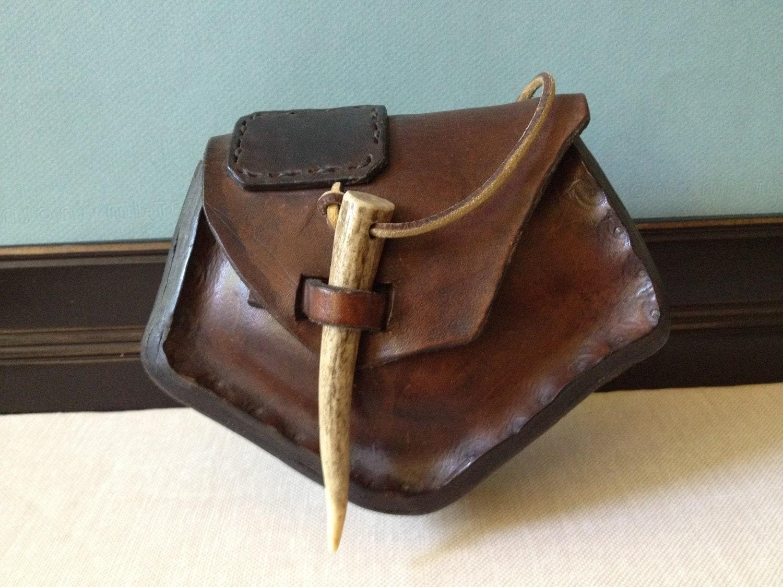 handmade leather hip bag belt pouch