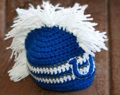 Indianapolis Colts Inspired Beanie- Hat-Newborn-Toddler-Adult