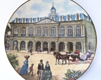 Vintage Southern Landmark Series - The Cabildo - Gorham Collectors Plate 1973