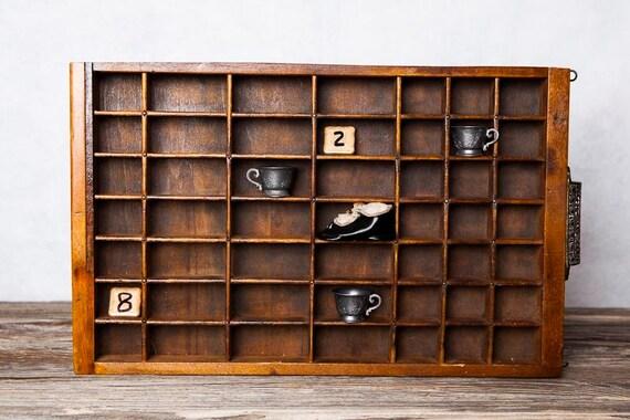 Antique letterpress drawer