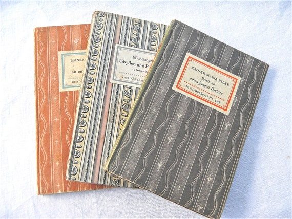 Vintage Foreign Language Books, 1930s and 40s - Vintage books, Poetry and Painting